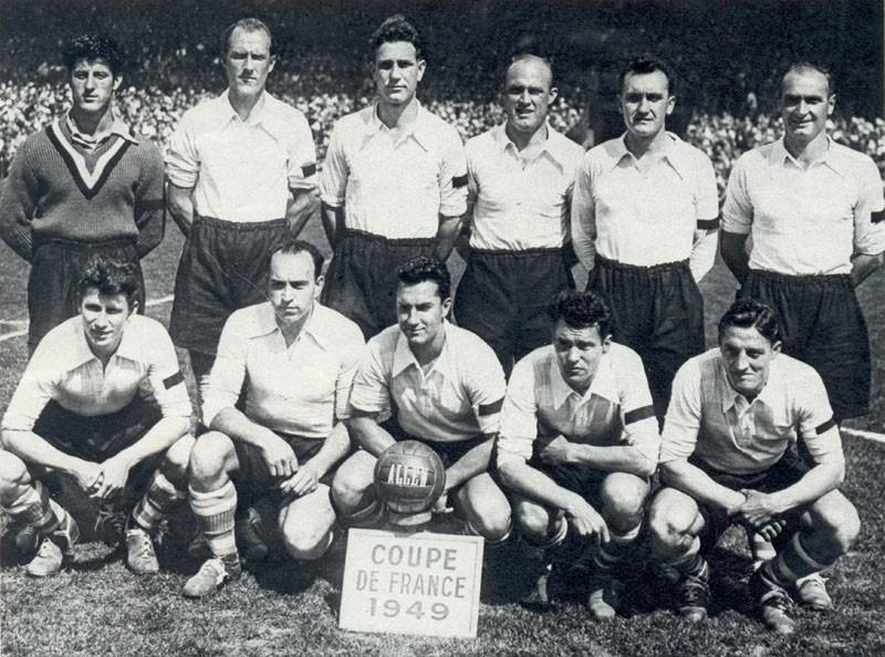 L'équipe du Racing en 1949, vainqueur de la Coupe de France